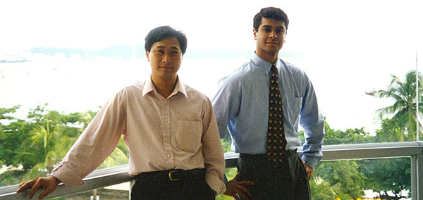 Raymond and Ravin in Thailand in 1998, visiting a key Asian client.
